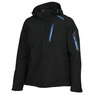 Karbon Softshell Edison Jacke Black Deep Blue