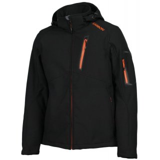 Karbon Softshell Edison Jacke Black Orange M